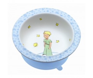 Blue Bowl with Suction  - St-Exupery The Little Prince