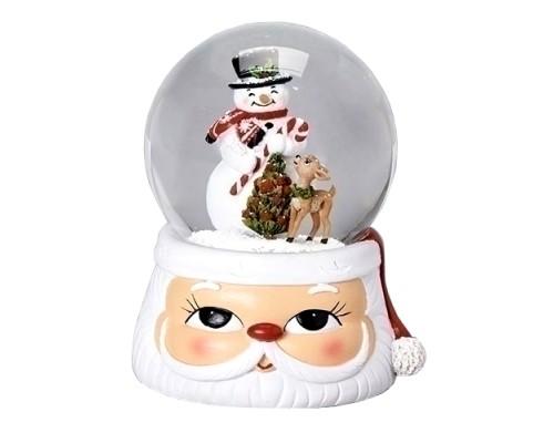Bonhomme de Neige Base Père Noël Boule à Neige Musicale