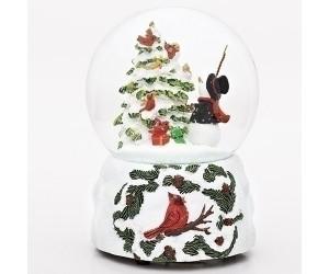 Conductor Snowman Musical Snowglobe