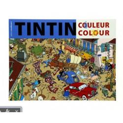 Cahier à Colorier Bleu - Tintin