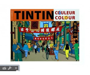 Colouring Book Orange - Tintin