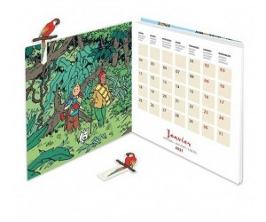 Calendrier Tintin 2021 Accordéon Save the Planet