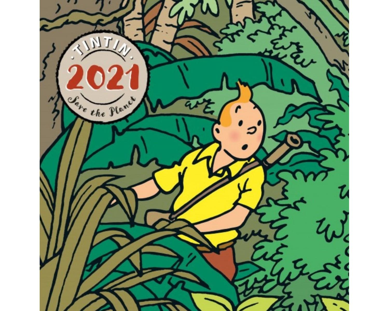 2021 Large Tintin Calendar Save the Planet