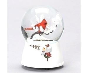 Cardinal and Mailbox Snowglobe