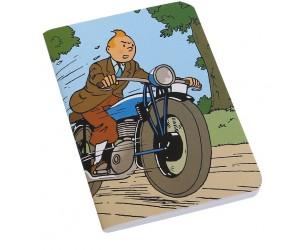 Cahier Grand Tintin en Moto