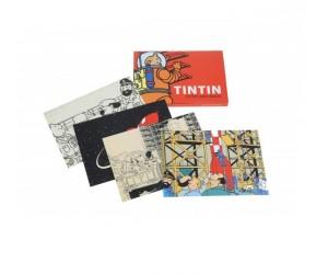 Livret de Cartes Postales Lune Tintin