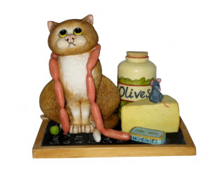 Deli Cat - Comic and Curious Cats Figurine