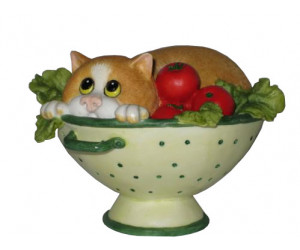 Salad Days  - Comic and Curious Cats Figurine