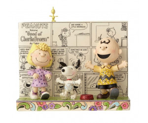 Charlie Brown, Snoopy and Lucy Dancing - Jim Shore Peanuts