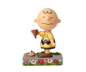 Charlie Brown et sa Crème Glacée - Figurine Heartwood Jim Shore
