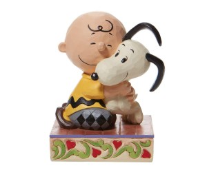 Charlie Brown et Snoopy Câlin Peanuts Jim Shore
