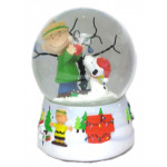 Charlie and Snoopy's Christmas Tree Musical Snowglobe