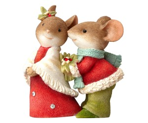 Couple de Souris de Noël Tails With Heart