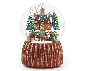 Cottage and Train Waterglobe