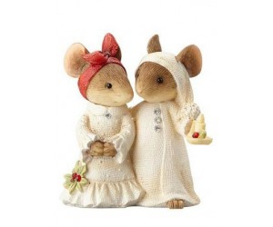 Good Night Mice Couple Tails With Heart