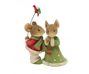 Mice Couple in Winter Tails With Heart