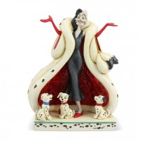 Cruella with Puppies Jim Shore Disney Tradition