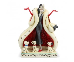 Cruella with Puppies Jim Shore Disney Tradition