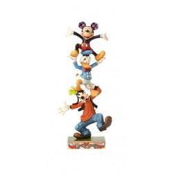 Dingo, Donald et Mickey - Heartwood Jim Shore Disney Tradition