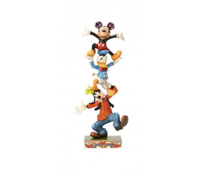 Dingo, Donald et Mickey - Heartwood Jim Shore Disney Tradition