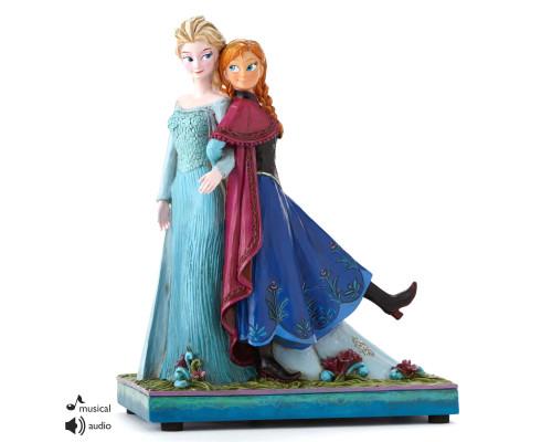 Elsa et Anna Musicale Heartwood Jim Shore Disney Tradition