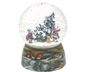 Childs and Christmas Tree Musical Snowglobe
