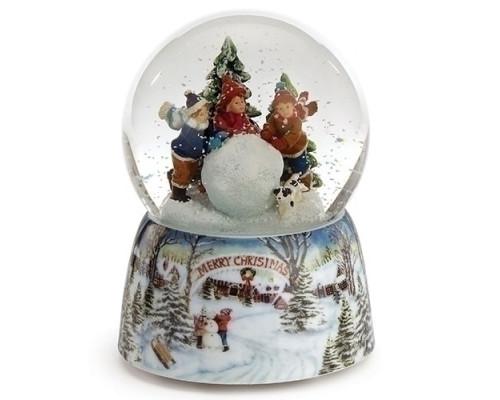 Enfants et Boule de Neige - Boule à Neige Musicale