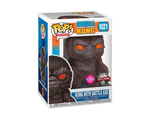 Kong With Battle Axe 1021 Flocked Funko Pop