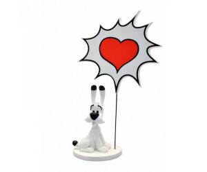 Dogmatix Cartoon Heart Figurine