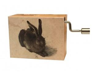 For Elise Rabbit Albrecht Dürer #220 Handcrank Music Box