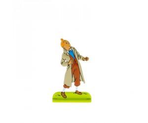 Les Sept Boules de Cristal Figurine de Tintin en Métal