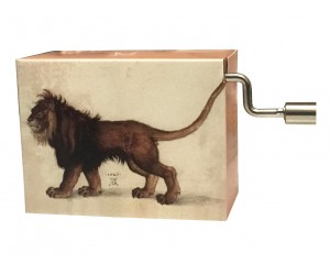 Arabesque Debussy - Lion Albrecht Dürer #219 Handcrank Music Box