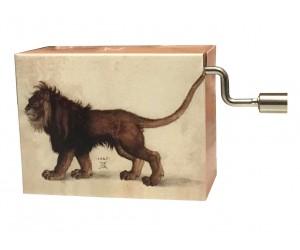Arabesque Debussy - Lion Albrecht Dürer #219 Handcrank Music Box