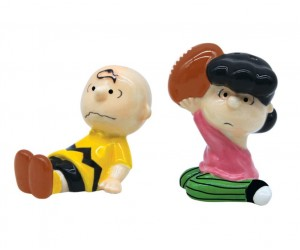 Charlie Brown et Lucy Football Salière Poivrière