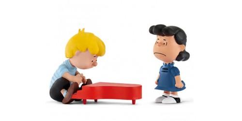 Lucy et Schroeder au Piano  - Figurines Schleich