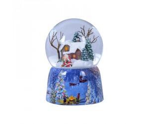 Ma Maison à Noël Boule à Neige Musicale