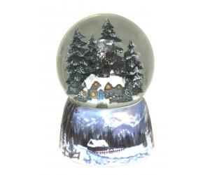 Maison dans la Forêt Boule à Neige Musicale