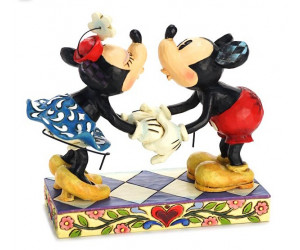 Mickey et Minnie Baiser Heartwood Disney Tradition