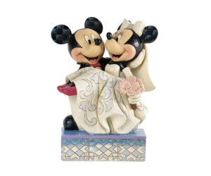 Mickey et Minnie Mariage - Heartwood Jim Shore Disney Tradition