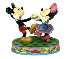 Mickey et Minnie Danseurs - Heartwood Jim Shore Disney Tradition