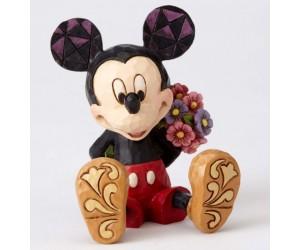 Mickey Bouquet de Fleurs Jim Shore Disney Tradition