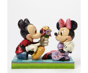 Mickey offre des Fleurs à Minnie - Jim Shore Disney Tradition