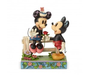 Mickey Offre Une Rose à Minnie Disney Tradition
