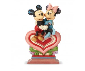Mickey et Minnie sur un Coeur Jim Shore Disney Tradition