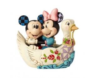 Mickey et Minnie Bateau Cygne Disney Tradition
