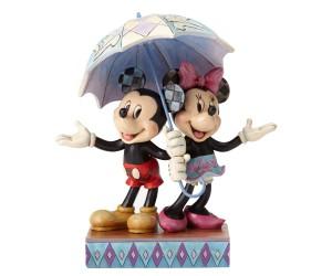 Mickey et Minnie sous le Parapluie  Disney Tradition Jim Shore