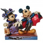 Mickey Vampire and Minnie Witch Jim Shore Disney Tradition