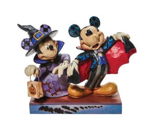Mickey Vampire avec Minnie Sorcière Jim Shore Disney Tradition
