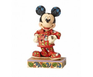 Mickey en Pyjama Jim Shore Disney Tradition