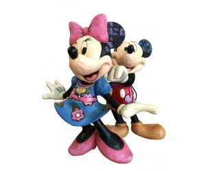 Mickey et Minnie avec Collier - Heartwood Jim Shore Disney Tradition